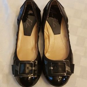 "Marc Fisher ""Rosa""  Ballerina Flats Black 8 EUC"